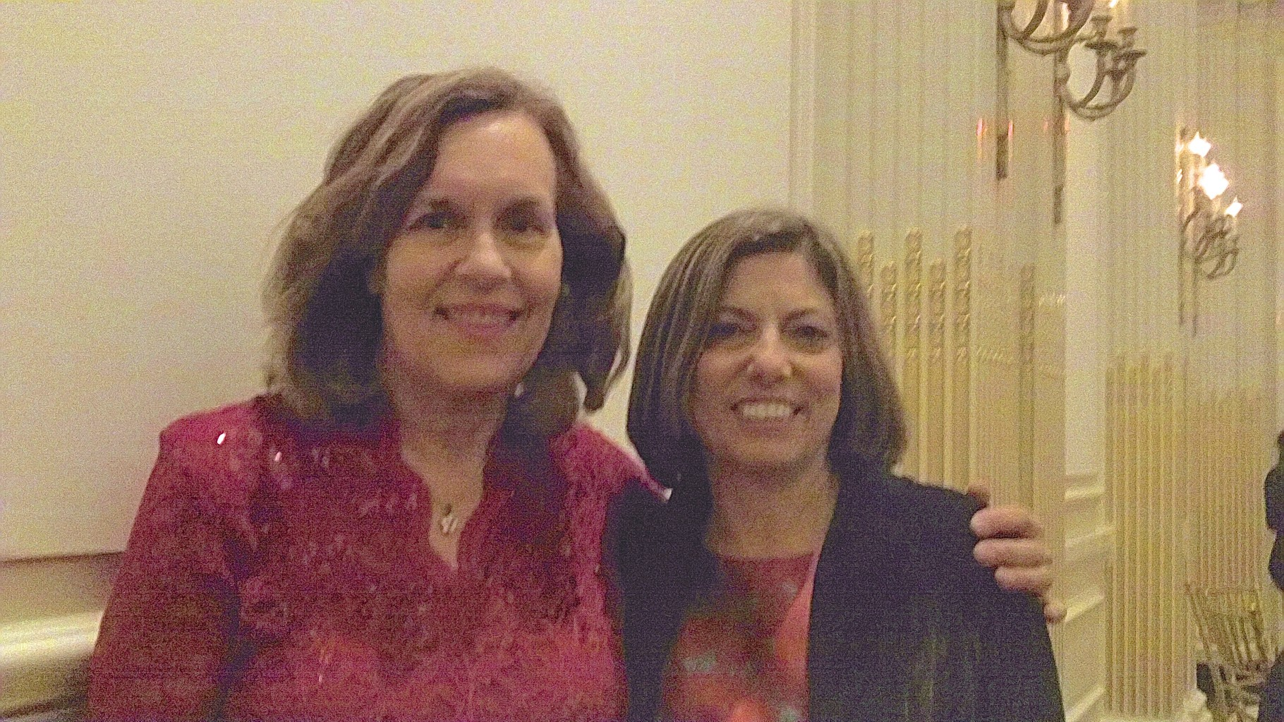 Dr. Lorraine Gudas & Dr. Lisa Staiano-Coico, President of CUNY, at the party for Dr. Gotto