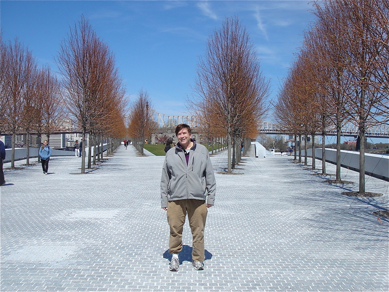 April 21, 2013  John at the FDR Memorial on Roosevelt Is.  with the linden trees!