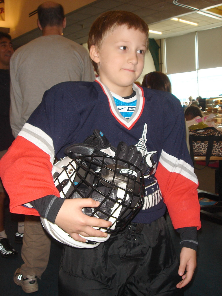 Jack learns to skate for hockey