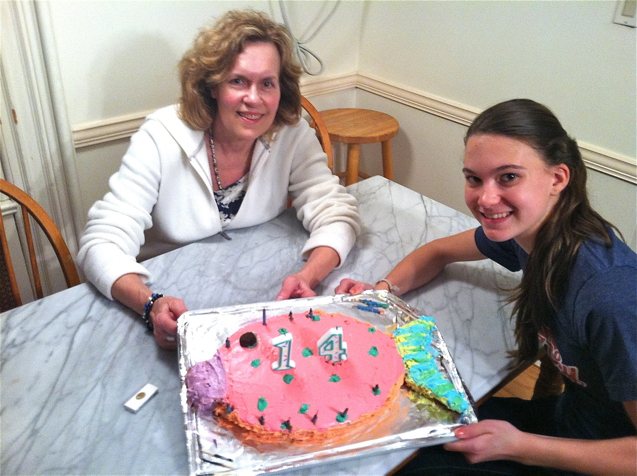 Lorraine & Ellie, May 18, 2013...Celebrating Ellie's 14th Birthday