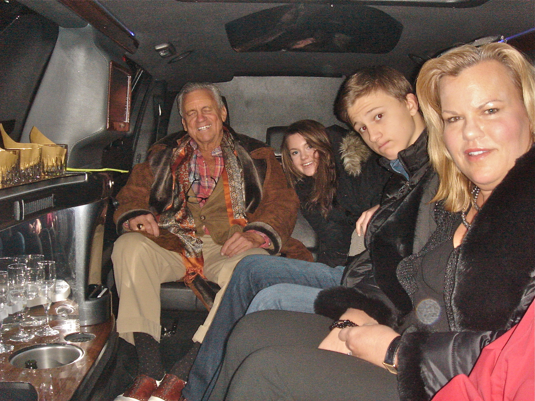 In the limo!-Stuart, Kate, Jack, & Celeste