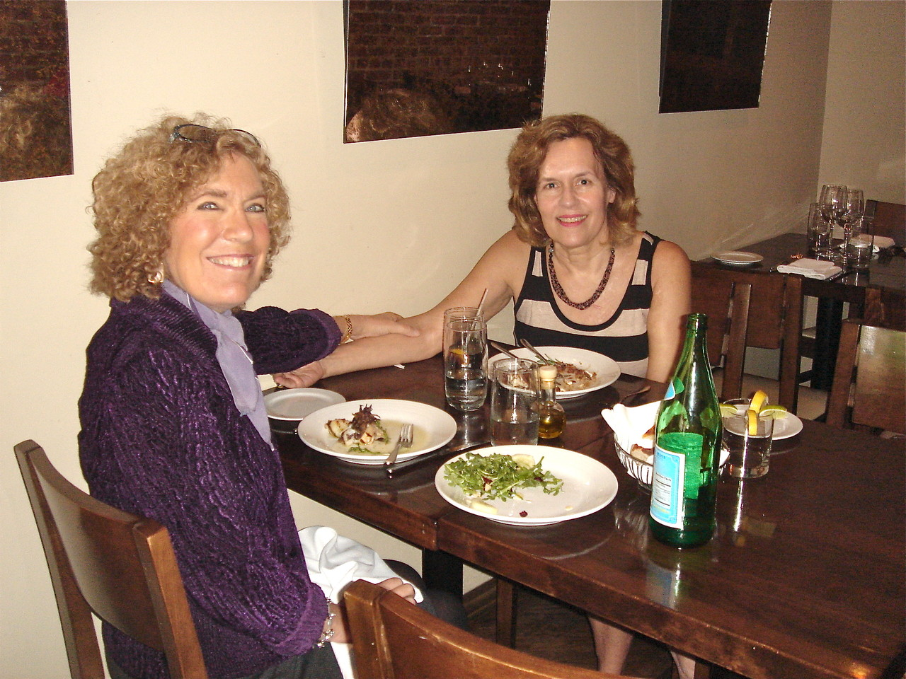Elaine Fuchs and Lorraine Gudas  7-2013  summer lunch! classmates at Princeton