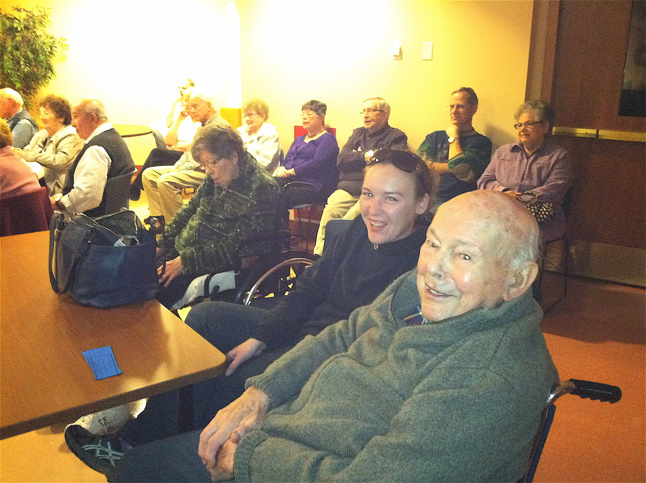 Al & El Gudas, & Lorraine (not shown) & Alicia attend a variety show at Holy Cross Church 10-14-12
