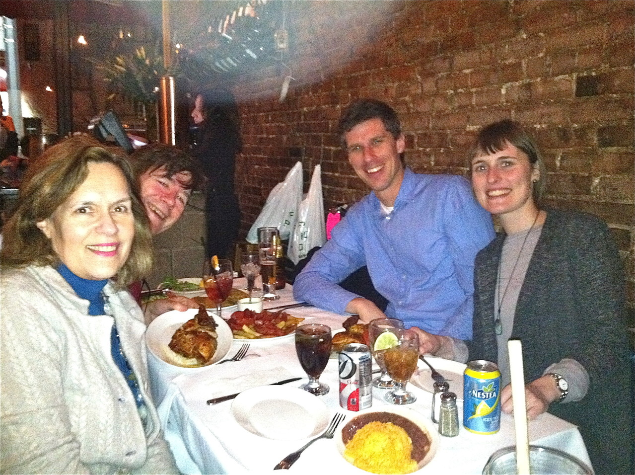 Lorraine, John, Patrick & Anna at Pio Pio, NYC  January 18, 2013