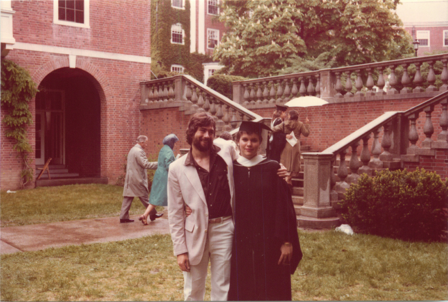 John Wagner & Celeste at her graduation, Smith College, May 17, 1980