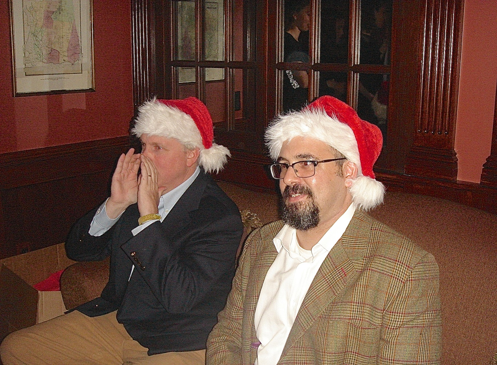Stuart Kagel Jr. and Colin Cherot played Santa