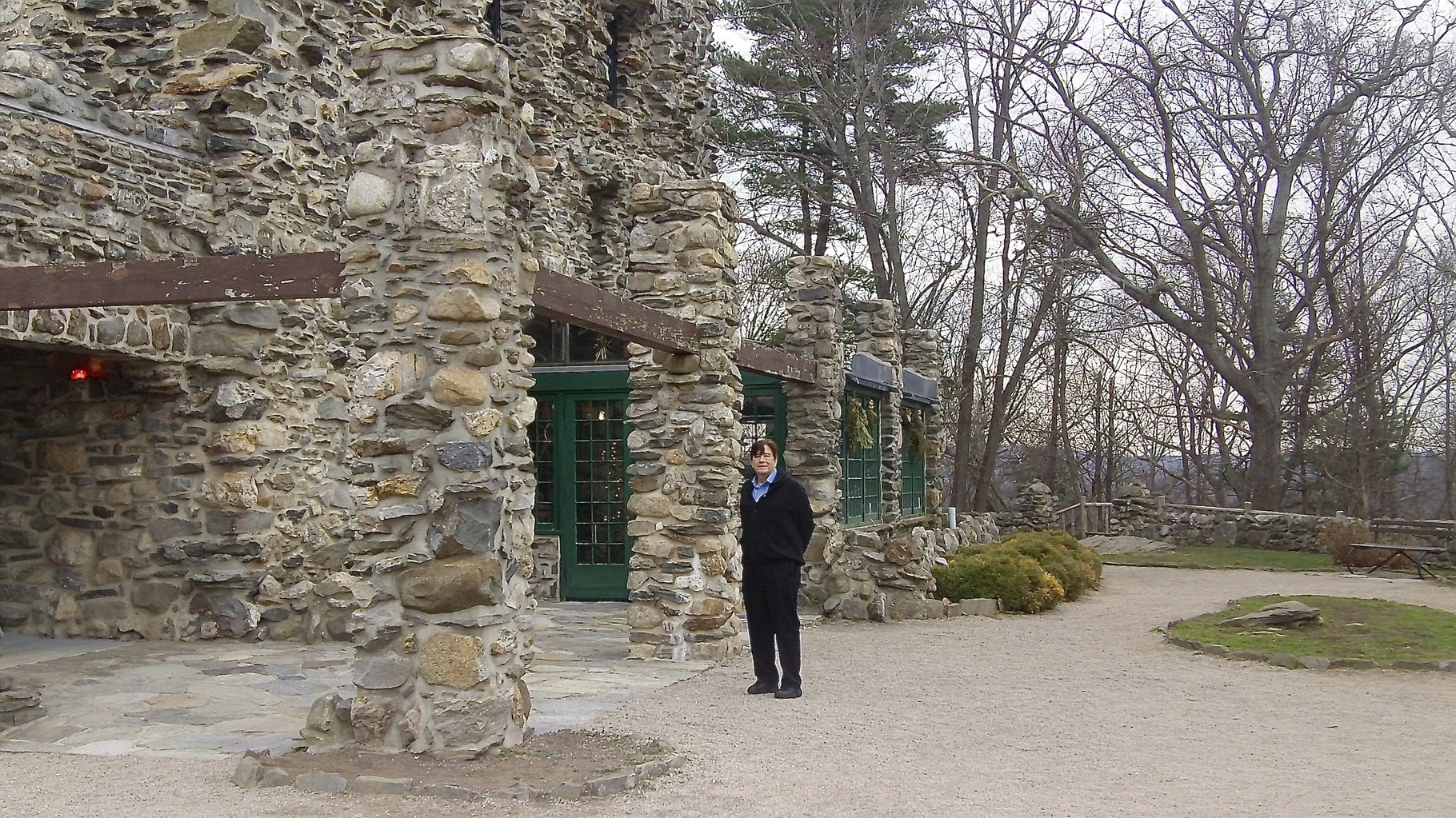 At Gillette Castle State Park, near Essex Ct  on December 13, 2015