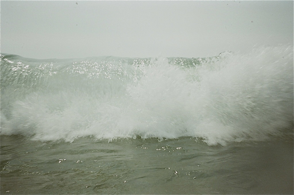 huge waves, Jones Beach, August, 2012