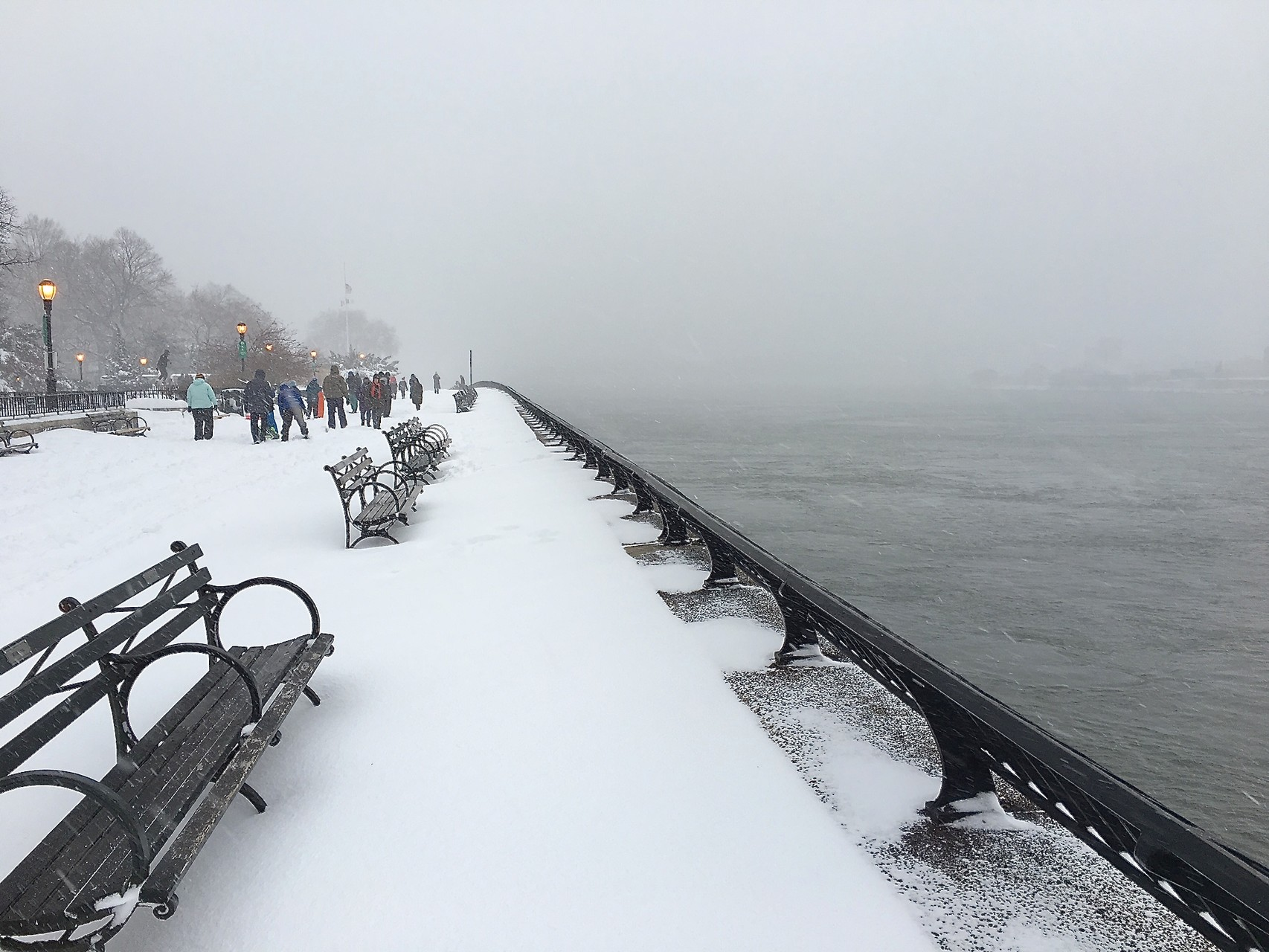Carl Schurz Park, East River, Jan. 23, 2016