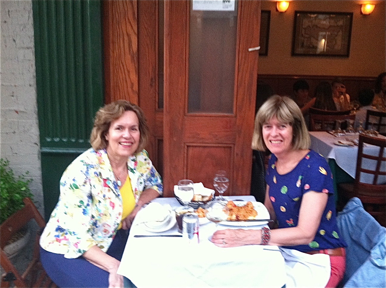 Nancy Hynes visits June 19-25, 2014 Lorraine & Nancy in NYC