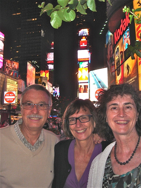 Antonio, Jill, Ann at Times Square, NYC