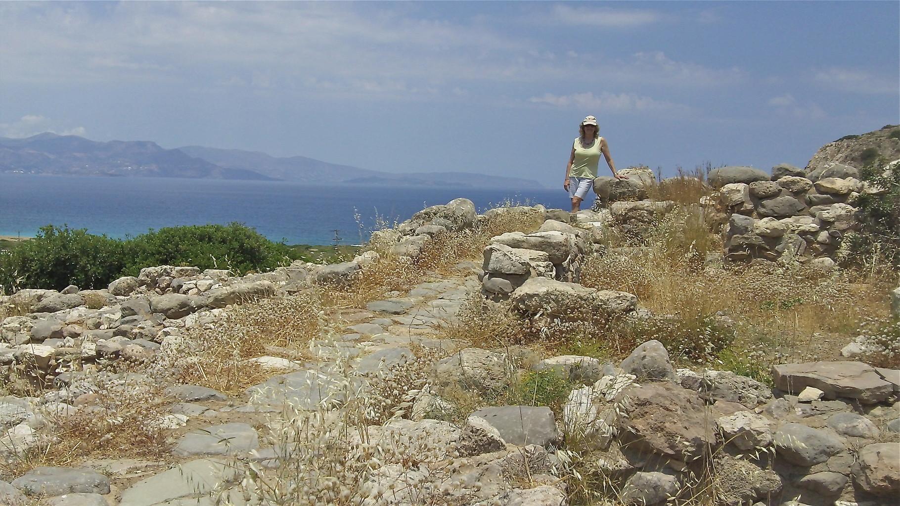 Lorraine at Gournia ruins