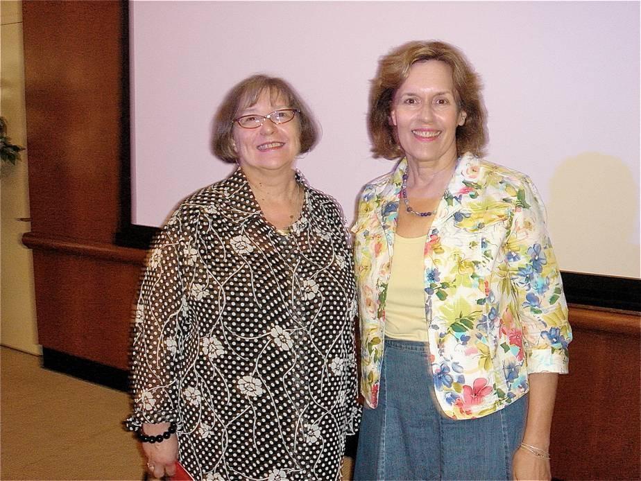 RECENT PICTURES:  Sheila Feliton & Lorraine Gudas, 2010 near NYC