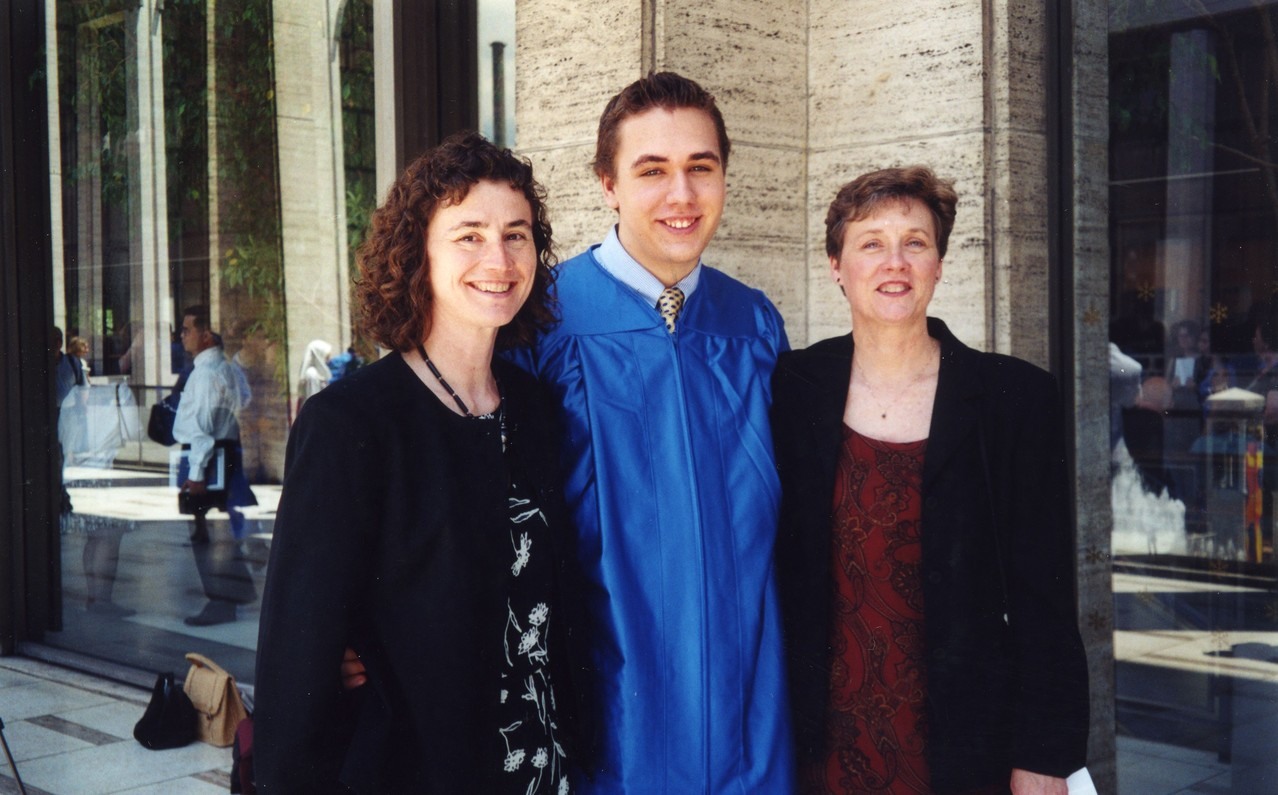 Ann Ackerman, Greg Wagner, Cindy Wagner 2001  Styvesant High Sch. Graduation