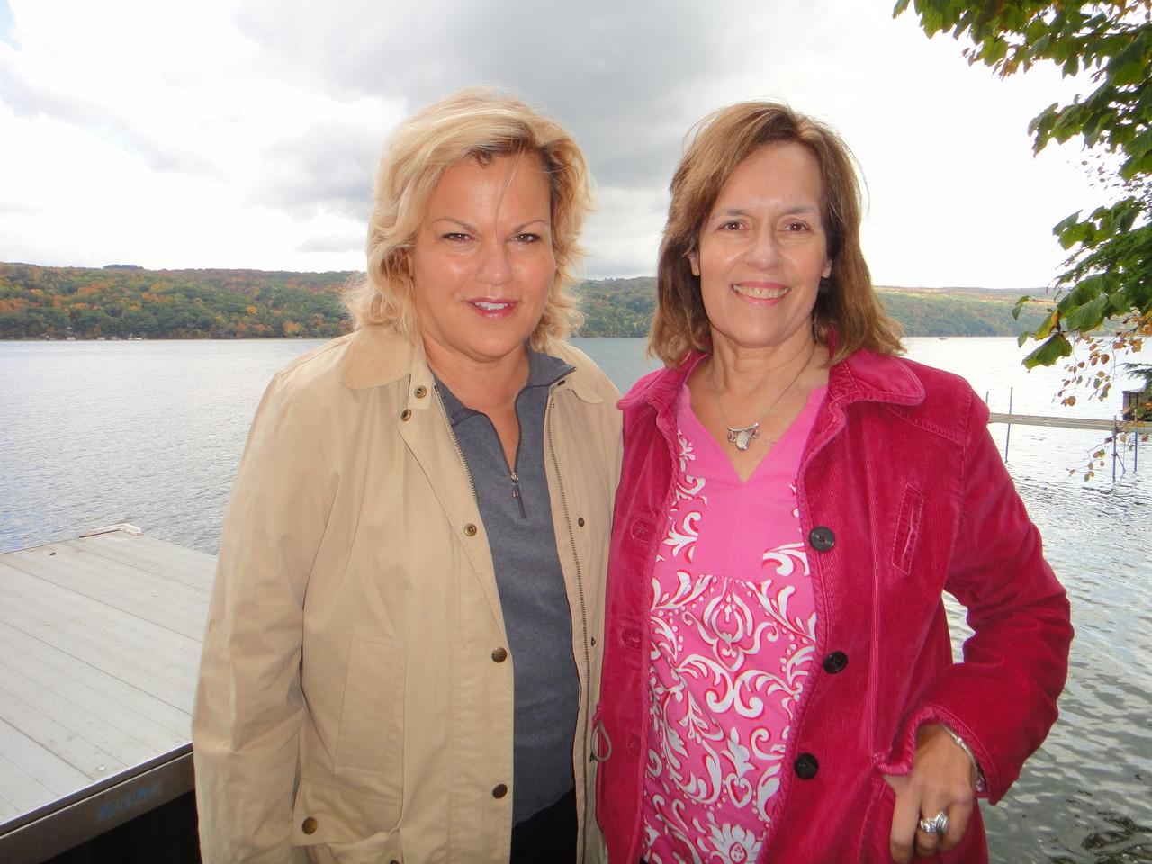 Celeste & Lorraine, Skaneateles Lake, 10-2012