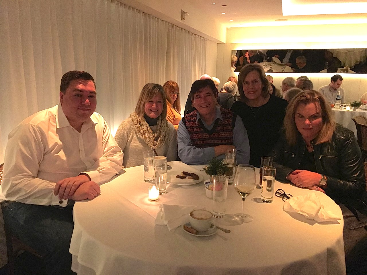 Greg, Sally Schwarz, John, Lorraine & Celeste, Dec. 13, 2019: dinner and the play TINA on Broadway!!