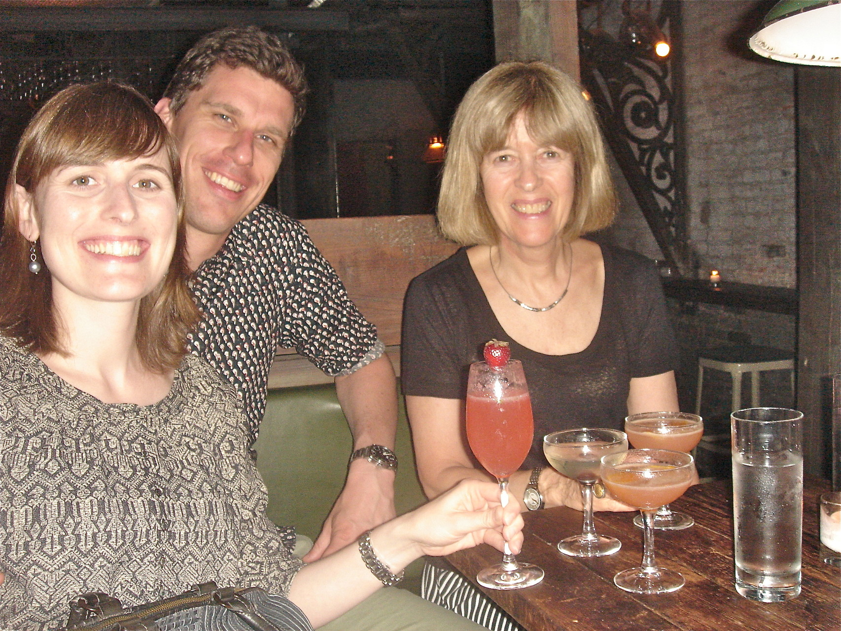Anna, Patrick & Nancy, drinks at the Third Man, Manhattan