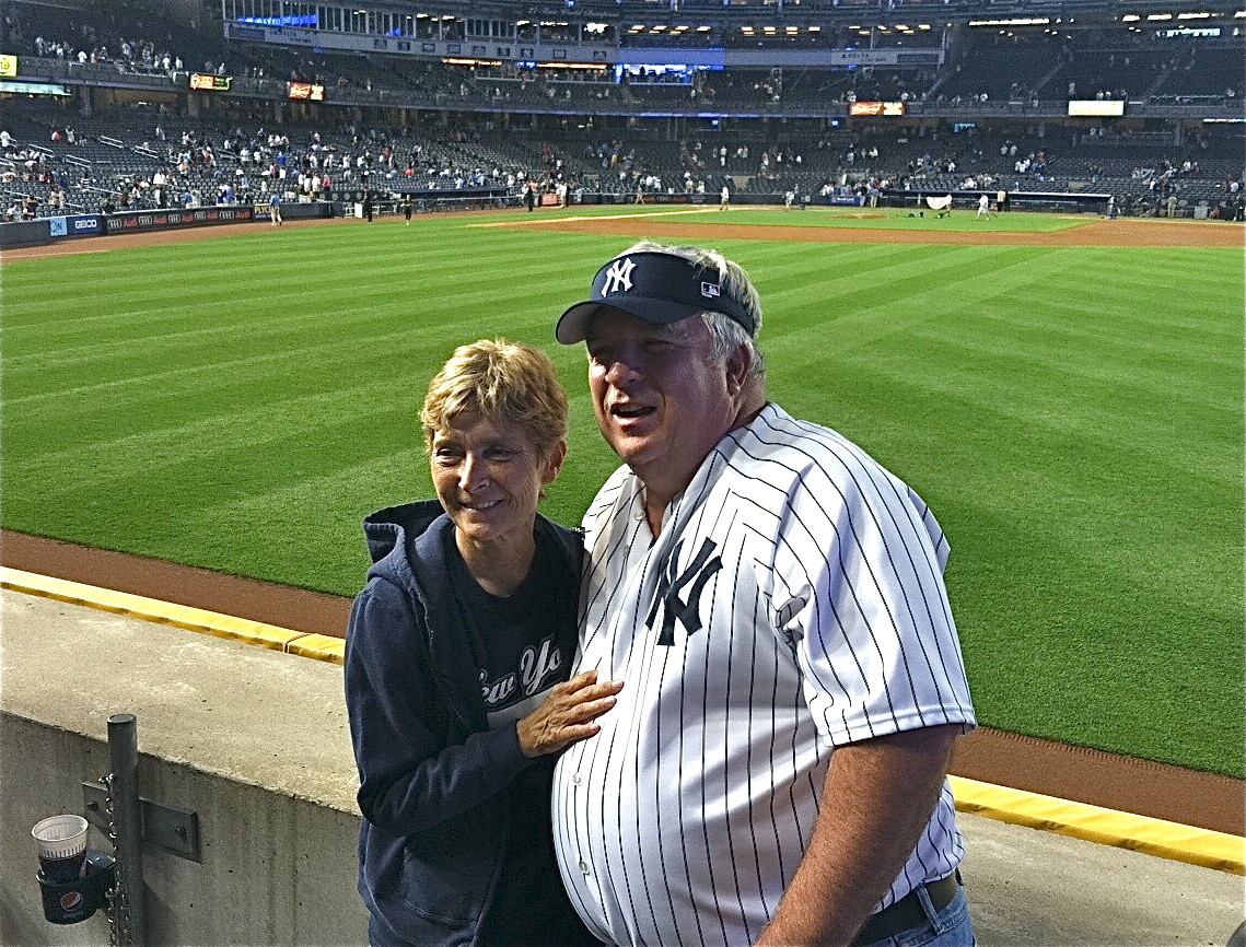 Sue & Steve Theisen after the game-the Yankees won!