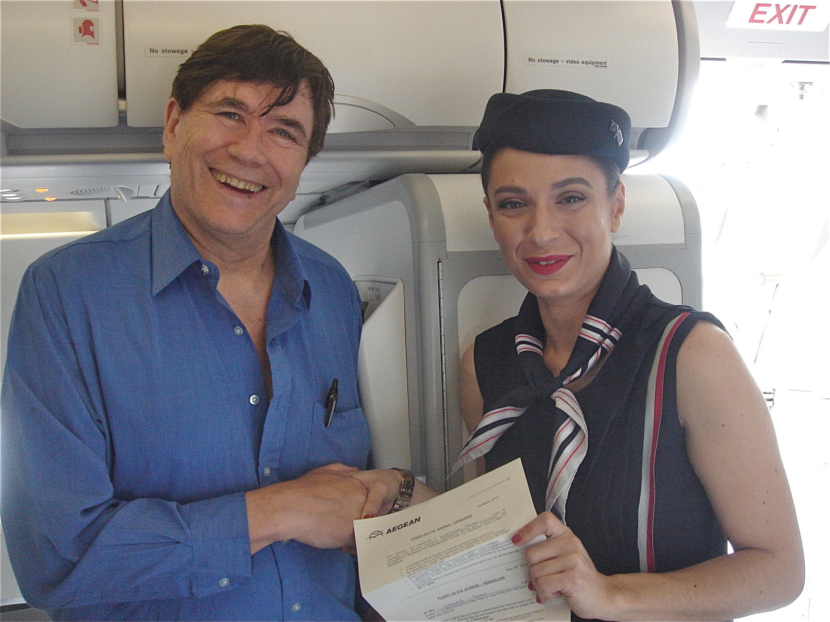 Our Trip to Crete and Athens May 27-June 6, 2015; John won a free ticket on Aegean Airlines! A good start!!