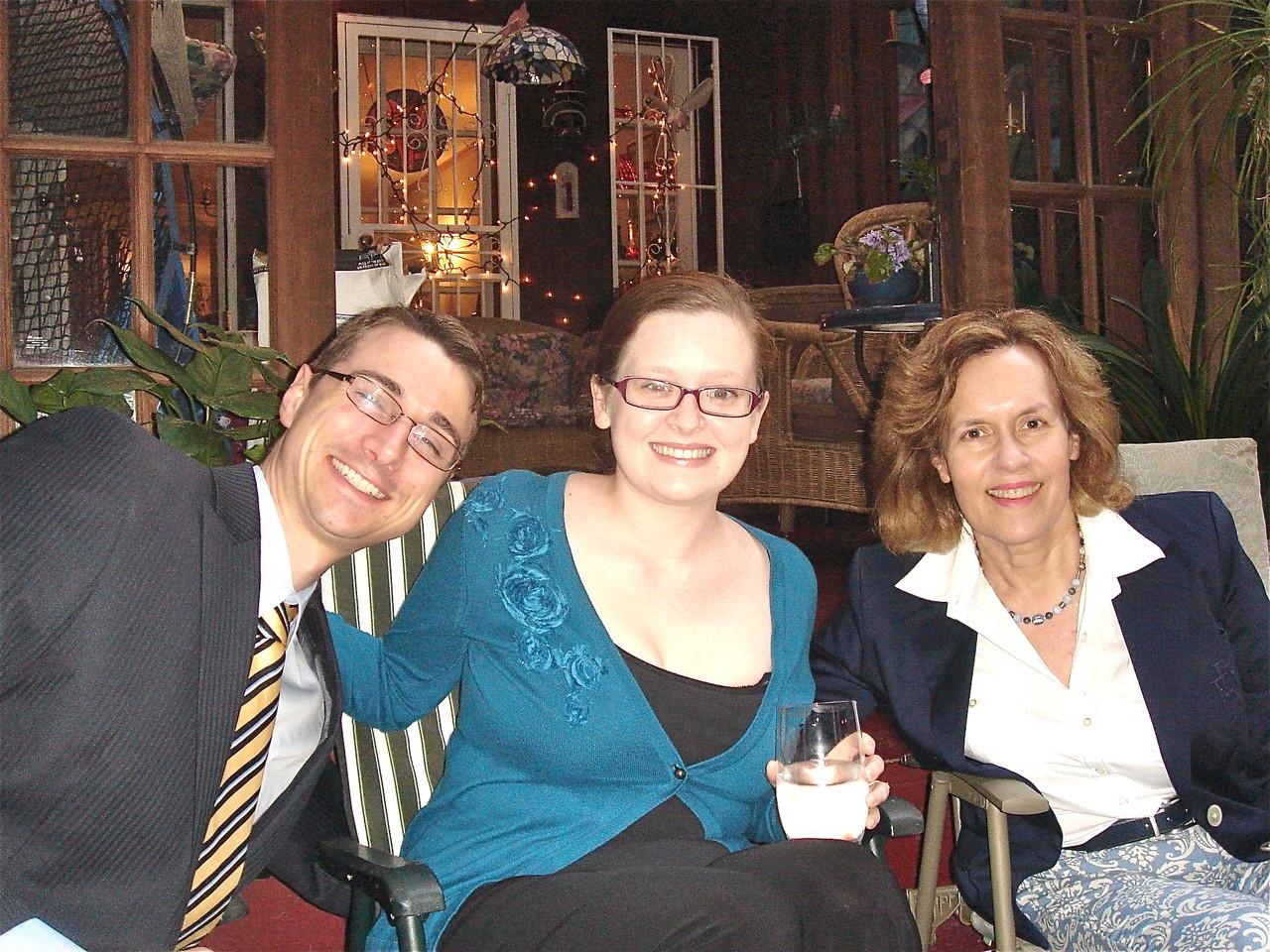 Nate, Jenny Friedman & Lorraine Gudas, 6-14-2013