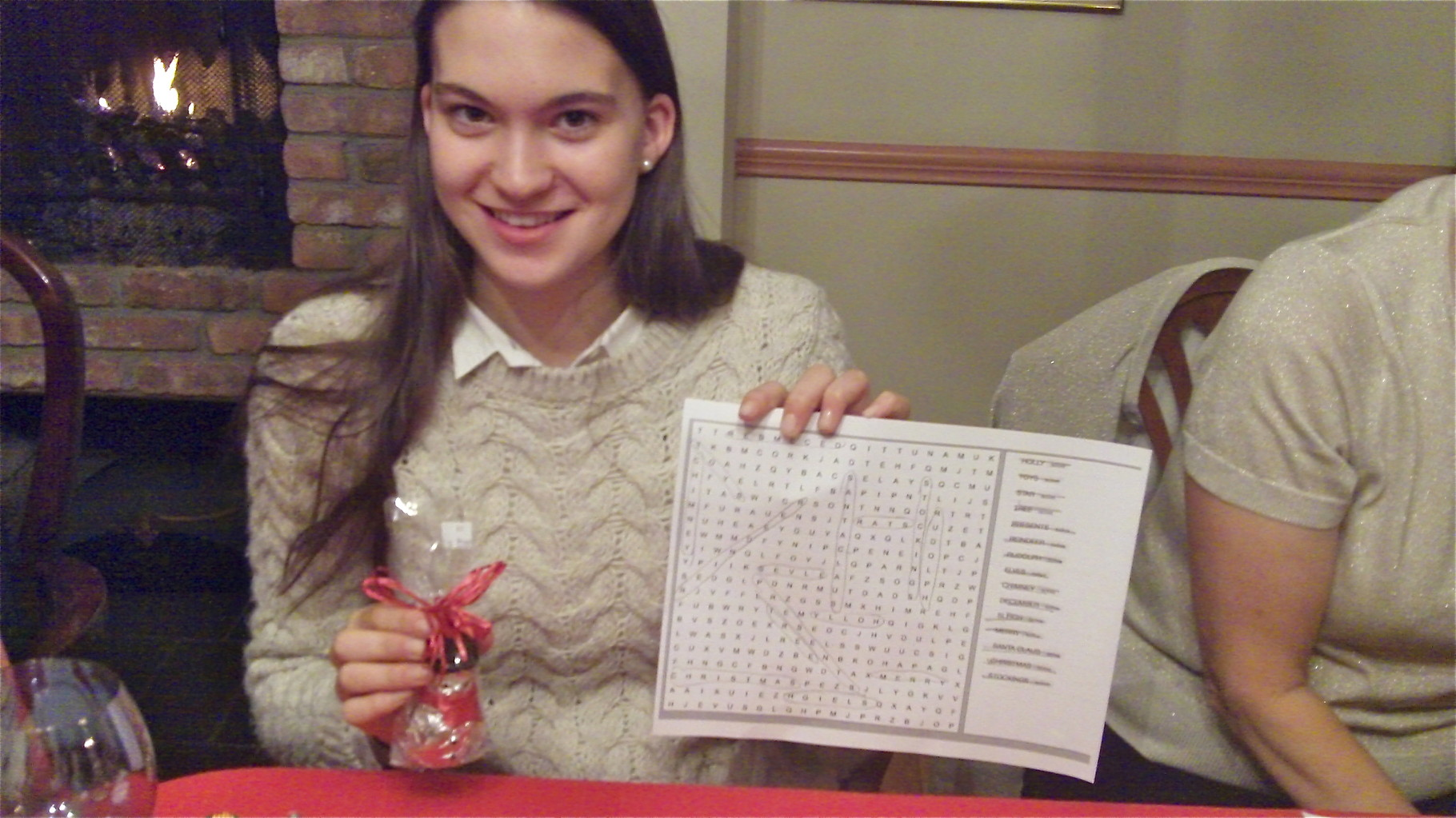 Ellie is second in the Xmas word search puzzle!