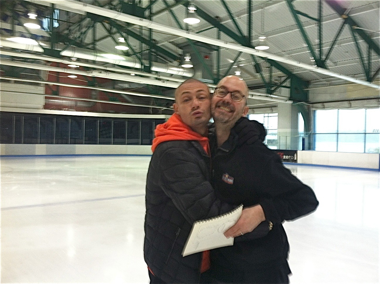My skating coach and his friend....