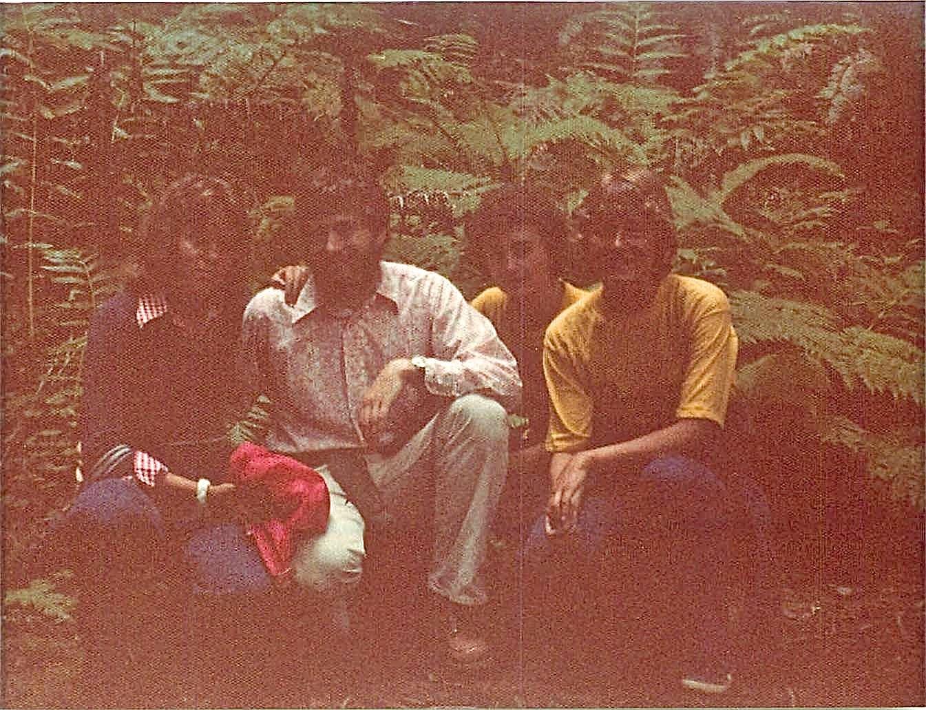 Aug. 1975, Muir Woods, CA  Celeste, John, Ann & Cindy Wagner