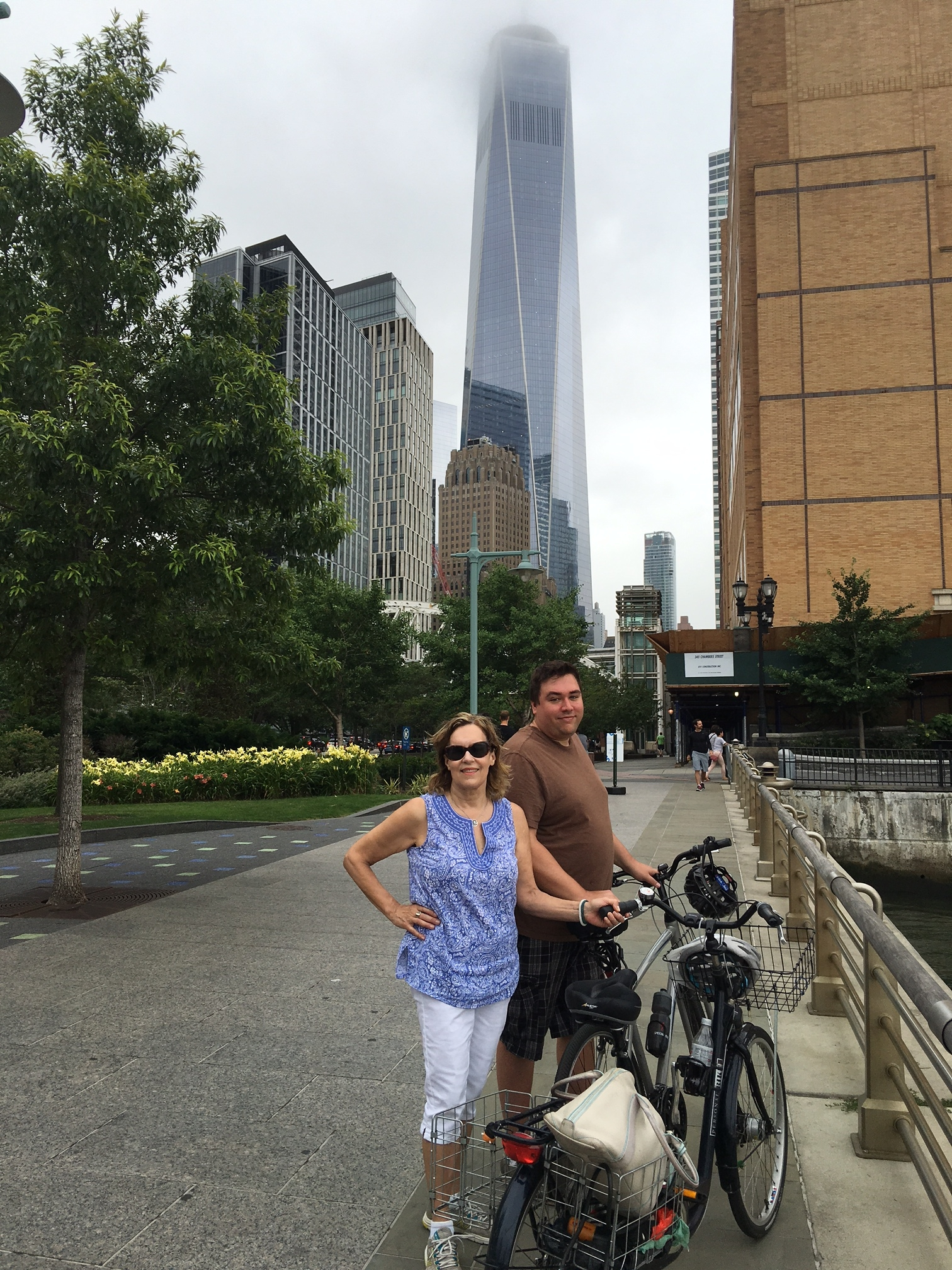 Lorraine & Greg in front of the Freedom Tower, July, 2016