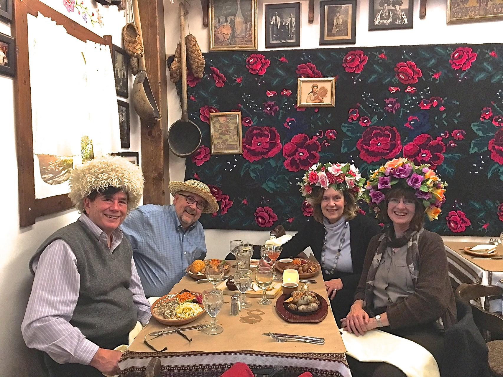 John, Steve, Lorraine & Sandra at Taras Bulba, NYC, 3/24/2016