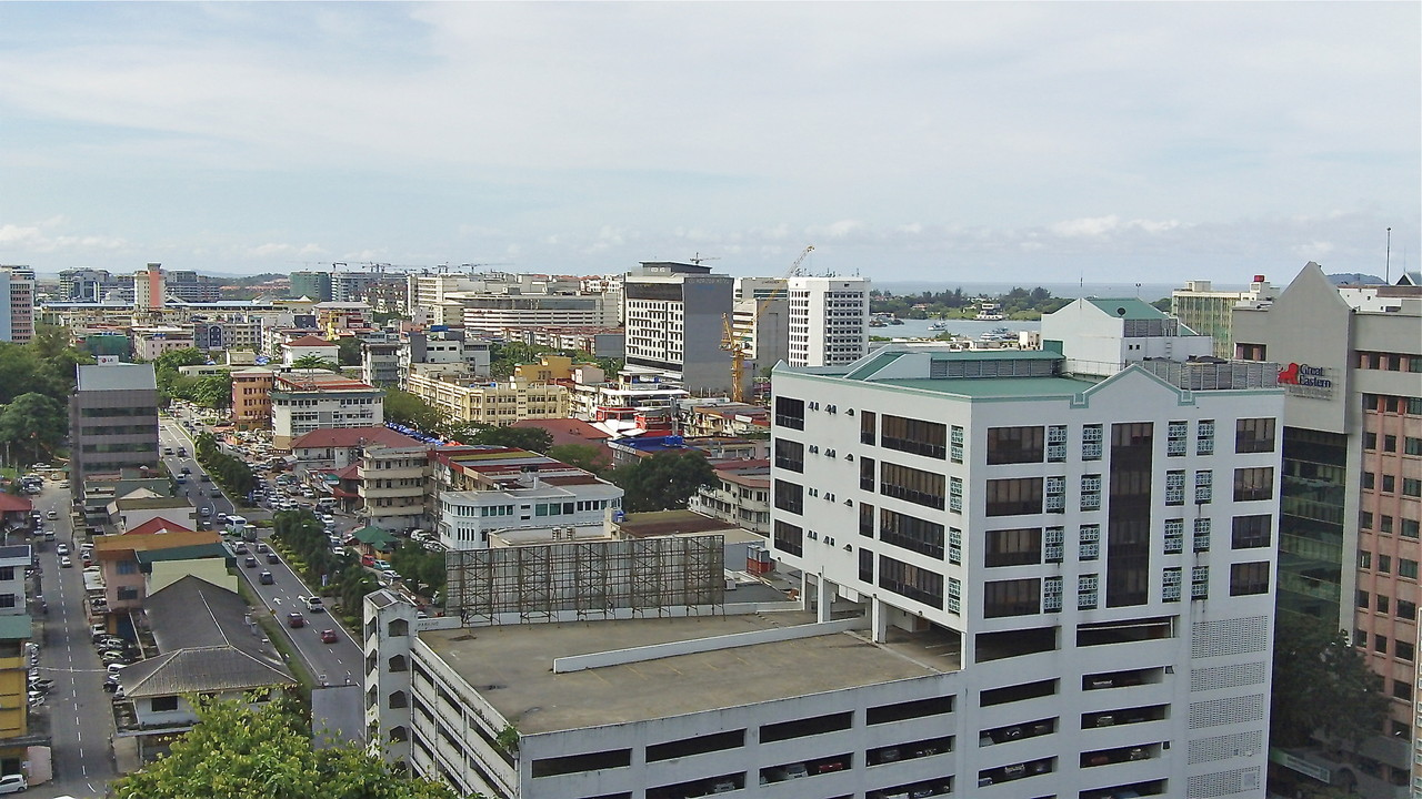 View of downtown Kota Kinabalu