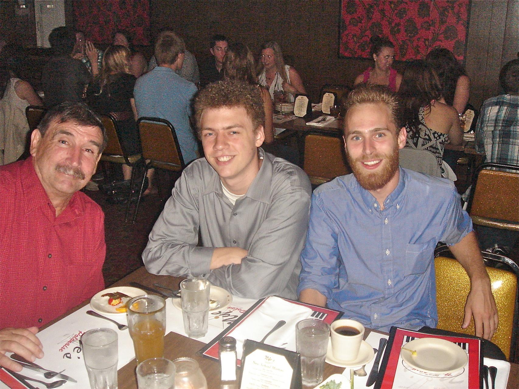 The Attendees: Paul Wagner, Ben Ackerman,& friend Josh