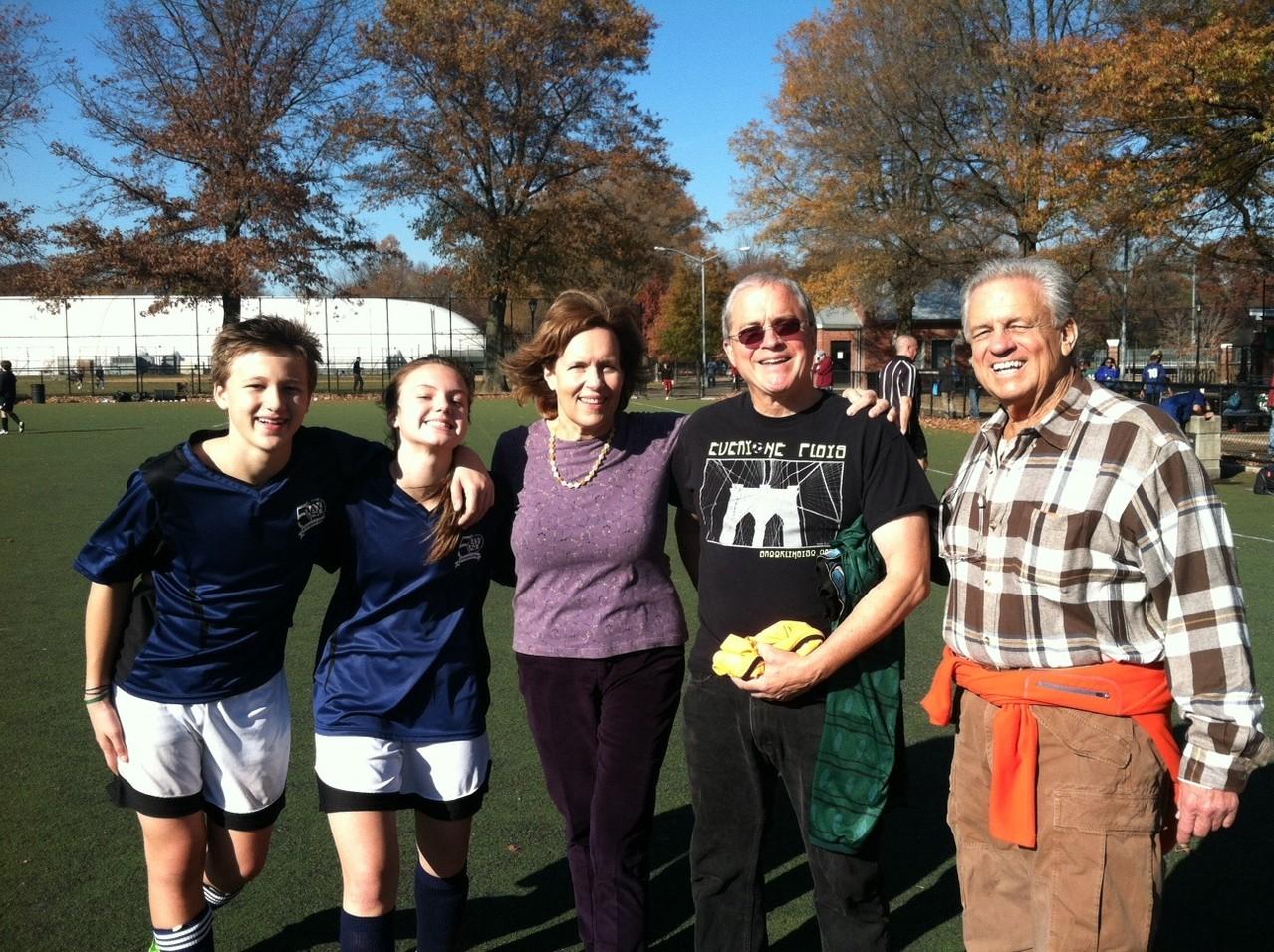Jac, Kate, Lorraine, Jack & Kate's soccer coach, & Stuart Kagel, Nov. 16, 2013