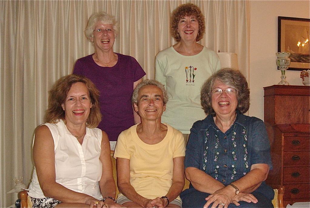 Lorraine, Kathy, & Betsy sitting; Chris & Judy standing