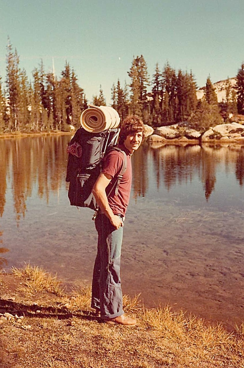 John Wagner at Emigrant Lake, CA, 1976