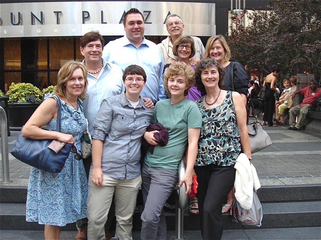 front: Lorraine, Emilea, Kathleen, Ann; back: John, Greg, Antonio, Jill, Sally