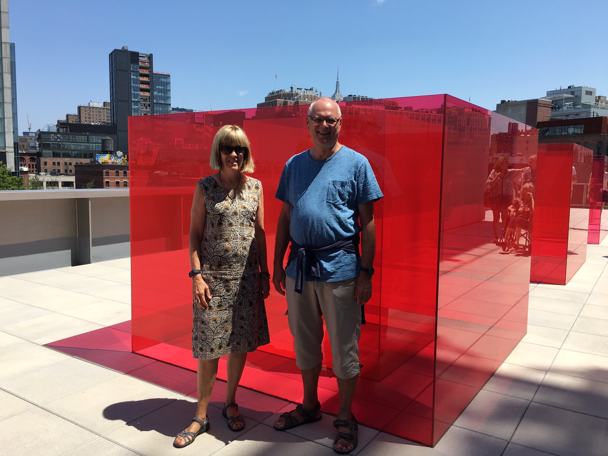 Nancy & Bernd at the new Whitney Museum, 7-31-17