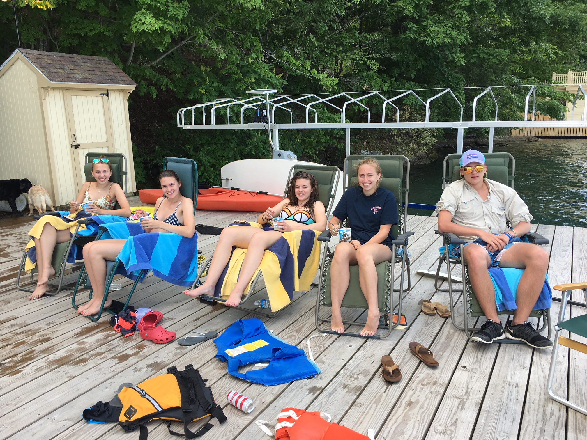 Gabby, Ellie, Kate, Emma, Jack   July 4th, 2016 Skaneateles Lake