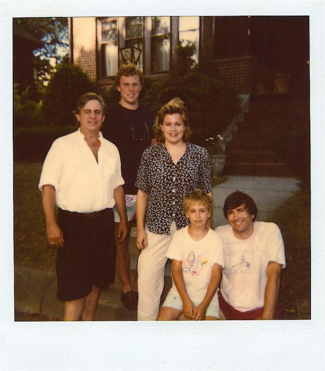 Stuart Kagel, Stuart Jr., Celeste, Greg Wagner, John Wagner   1990