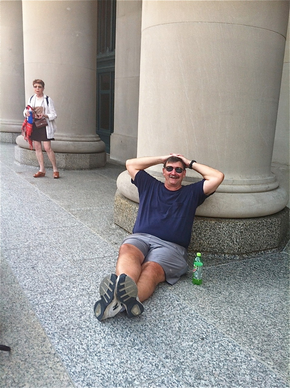Paul Wagner gets comfortable at the Jazz Festival