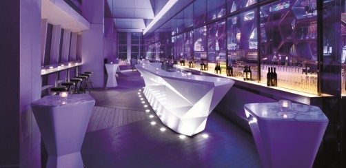 Ozone Bar, Ritz Carlton, highest bar in the world at 118 stories