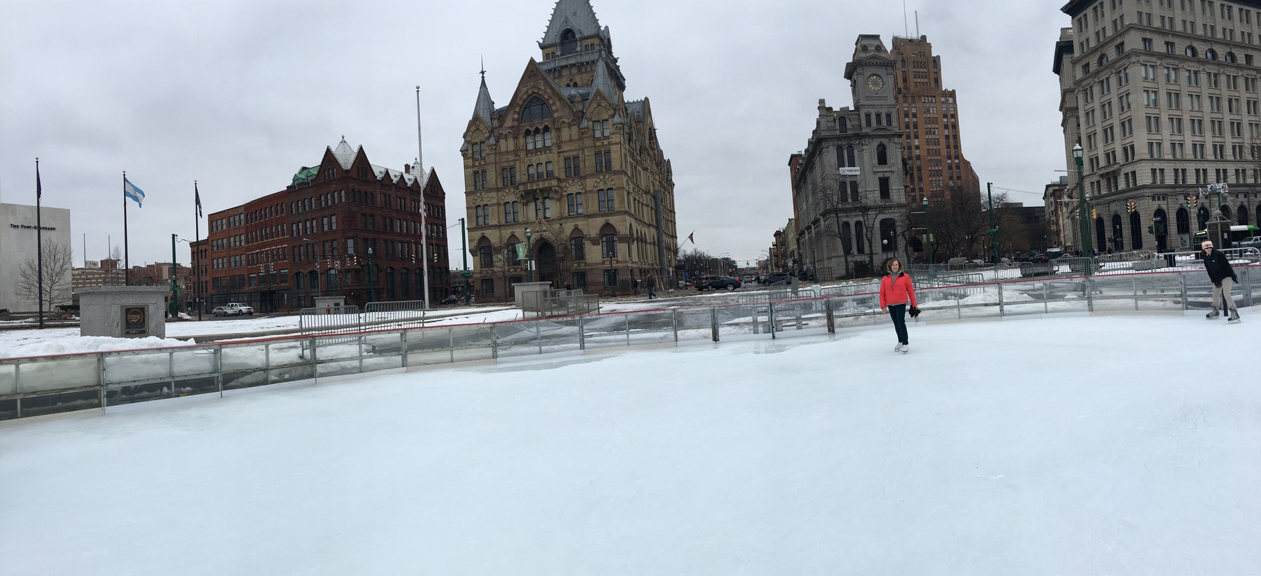 Lorraine skating in downtown Syracuse, Feb. 2016