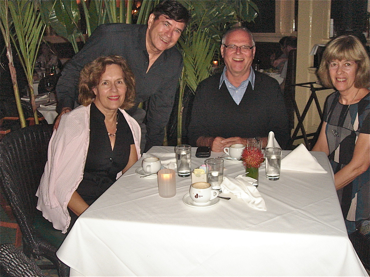 Lorraine, John, Bernd & Nancy at Le Colonial Vietnamese Restaurant., NYC