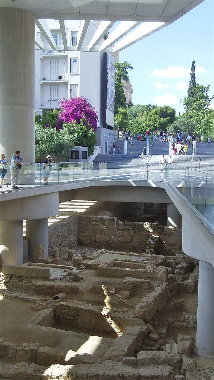 Excavations under the Acropolis Museum, Athens, Greece