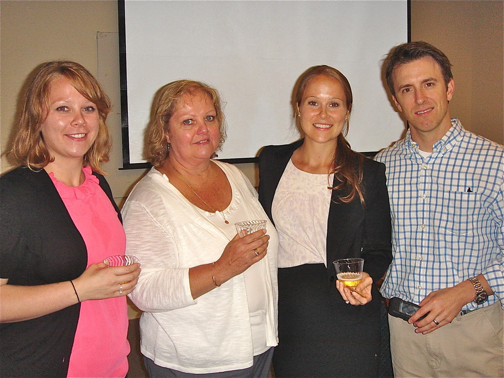 Megan with her family, July 20, 2012 after her thesis defense