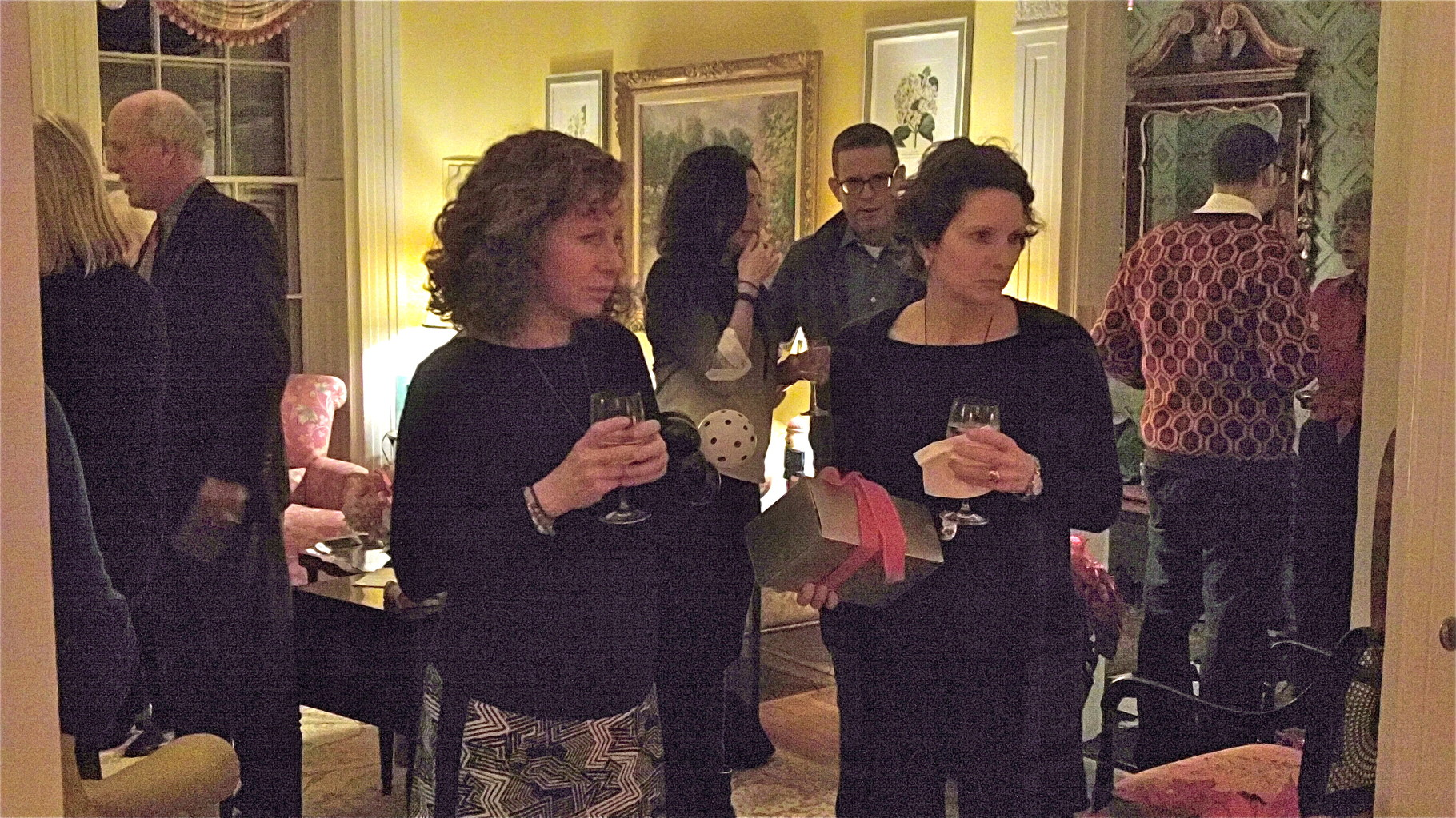 Julie & Lisa Kagel look on
