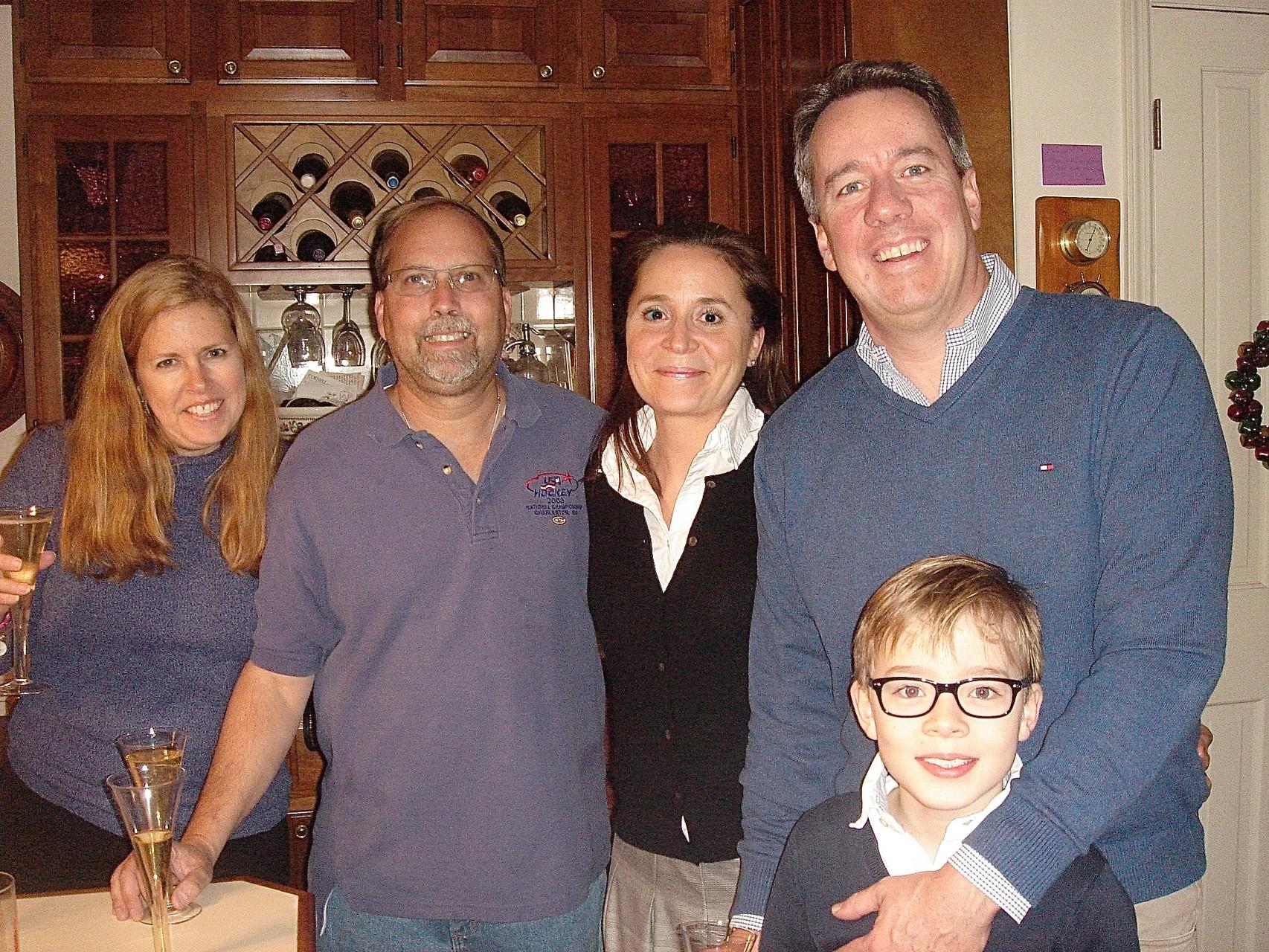 Lisa & Jerry Sroka, Barbara & Jon Boylan & Alexander
