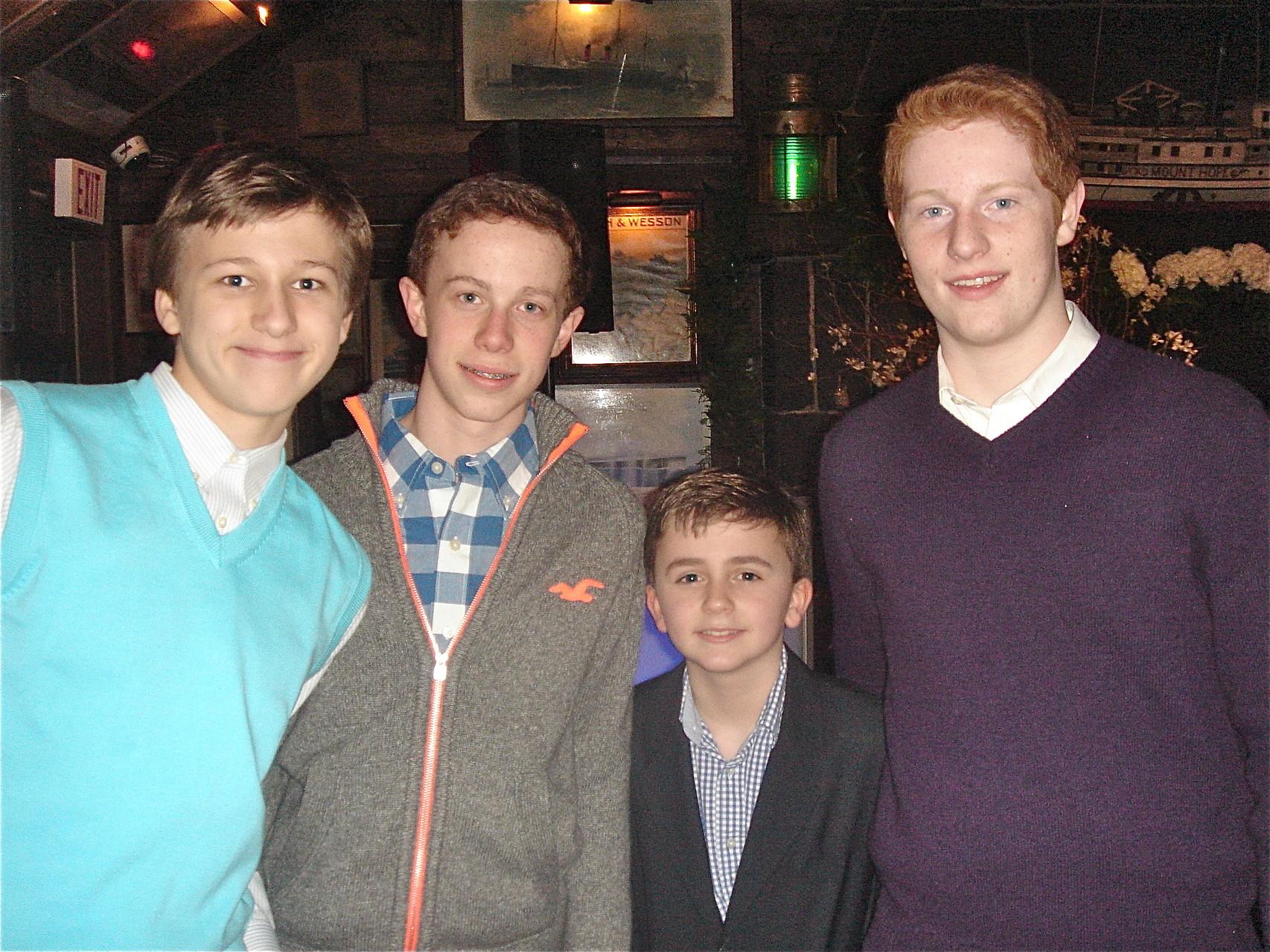 Jack, Liam, Stuart III & Noal Kagel