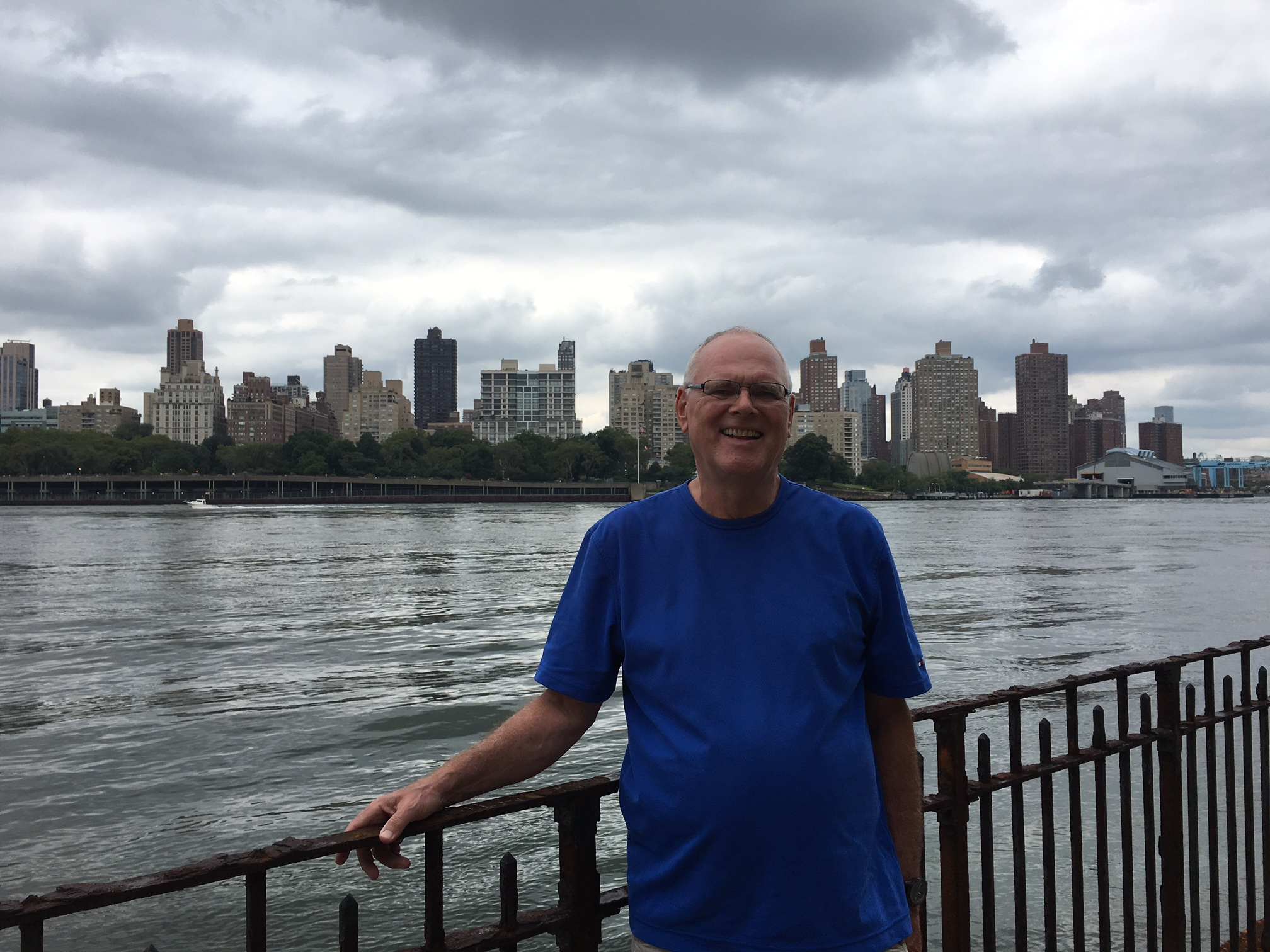 Bernd with view of Manhattan behind  8-5-17