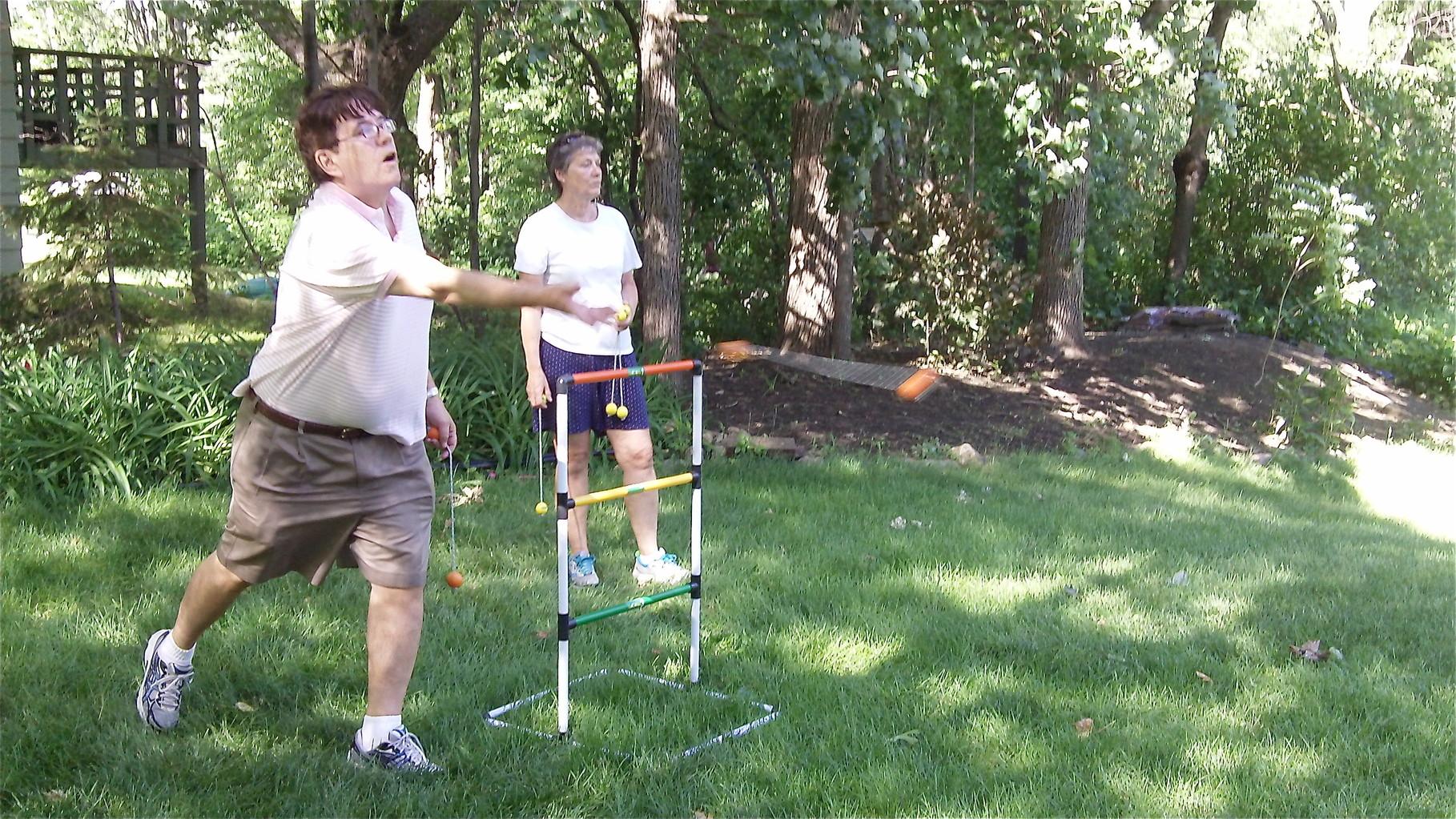 John Wagner throws-bocchi like game. Very strange..and hard!