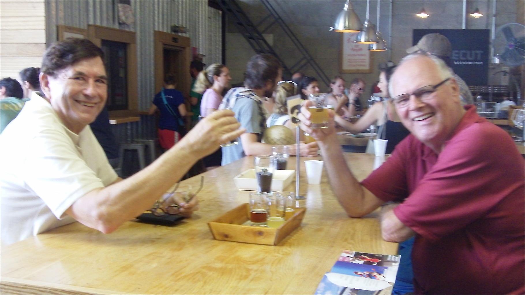 John & Bernd at Singlecut Brewery, Queens